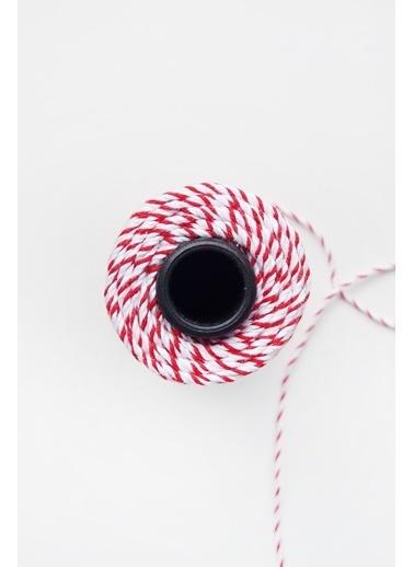 Funbou Paket İpi, Kırmızı-Beyaz / 100 Metre Kırmızı
